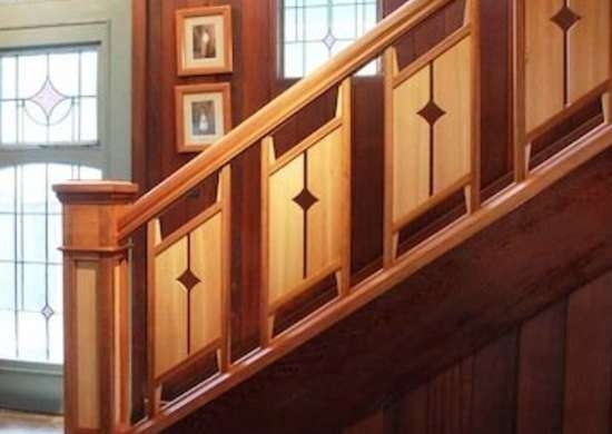 Staircase Railing 14 Ideas To Elevate Your Home Design Bob Vila   Hardwood Handrails For Stairs   Brown   Outdoor   Stairway   Light Wood   Colour Stair Painted Stair Railing