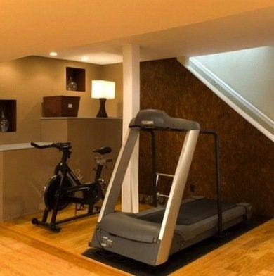 Home gym basement makeover