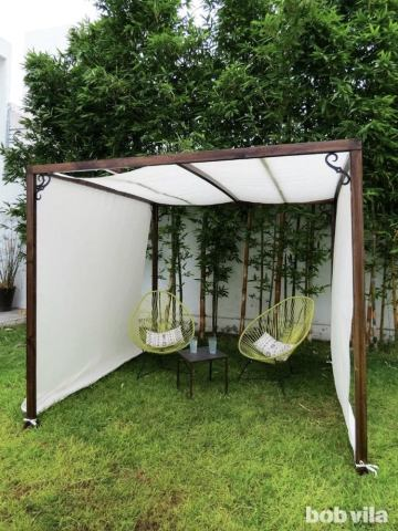 Patio Shades Ideas   10 Clever Ways to Take Cover Outdoors   Bob Vila How To Build A Canopy Frame