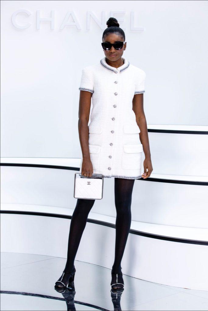 Karidja Touré. Street style at the Chanel show.