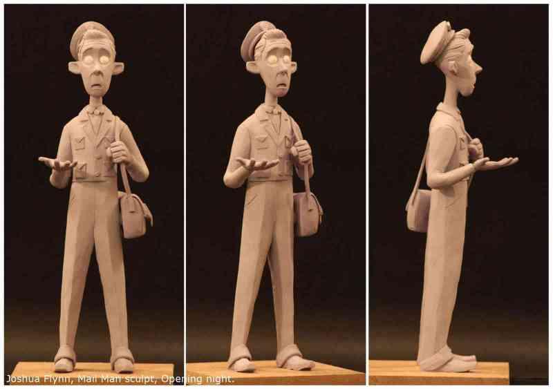 Mail Man sculpt turn around 01