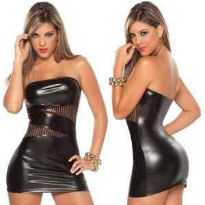 Free-Shipping-Women-Black-Sexy-Leather-font-b-Latex-b-font-Club-Wear-Costumes-font-b
