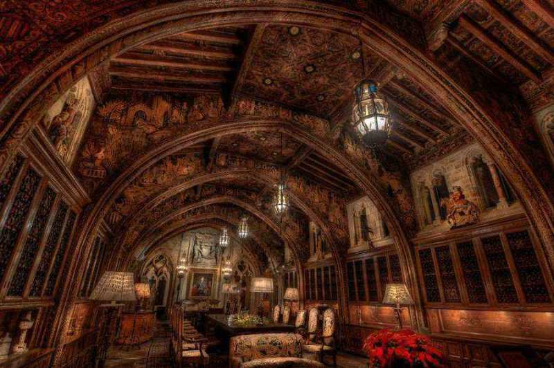 The Gothic Study at Hearst Castle