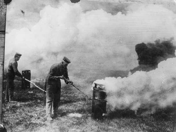 O uso de gás mortal na Guerra