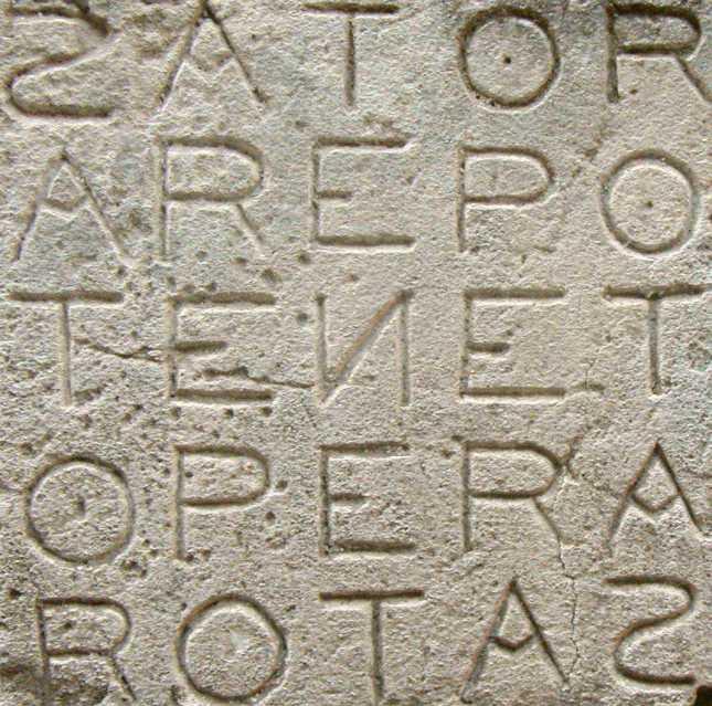 Sator_Square_at_Oppède