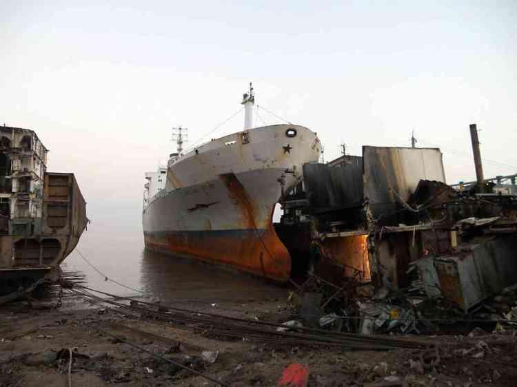 English Star 2 ~ Lugar de descanso final, Alang Beach, Índia ~ 12/11/2011 ~ Cortesia Richard Dunlop