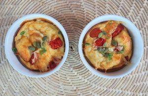 Calafoutis de queijo e tomate por chef Malu Lobo
