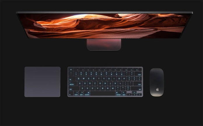 iMac concept with keyboard