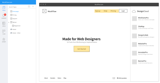 An example of a wireframe.