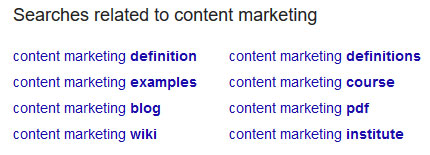use google related search for generating blog content
