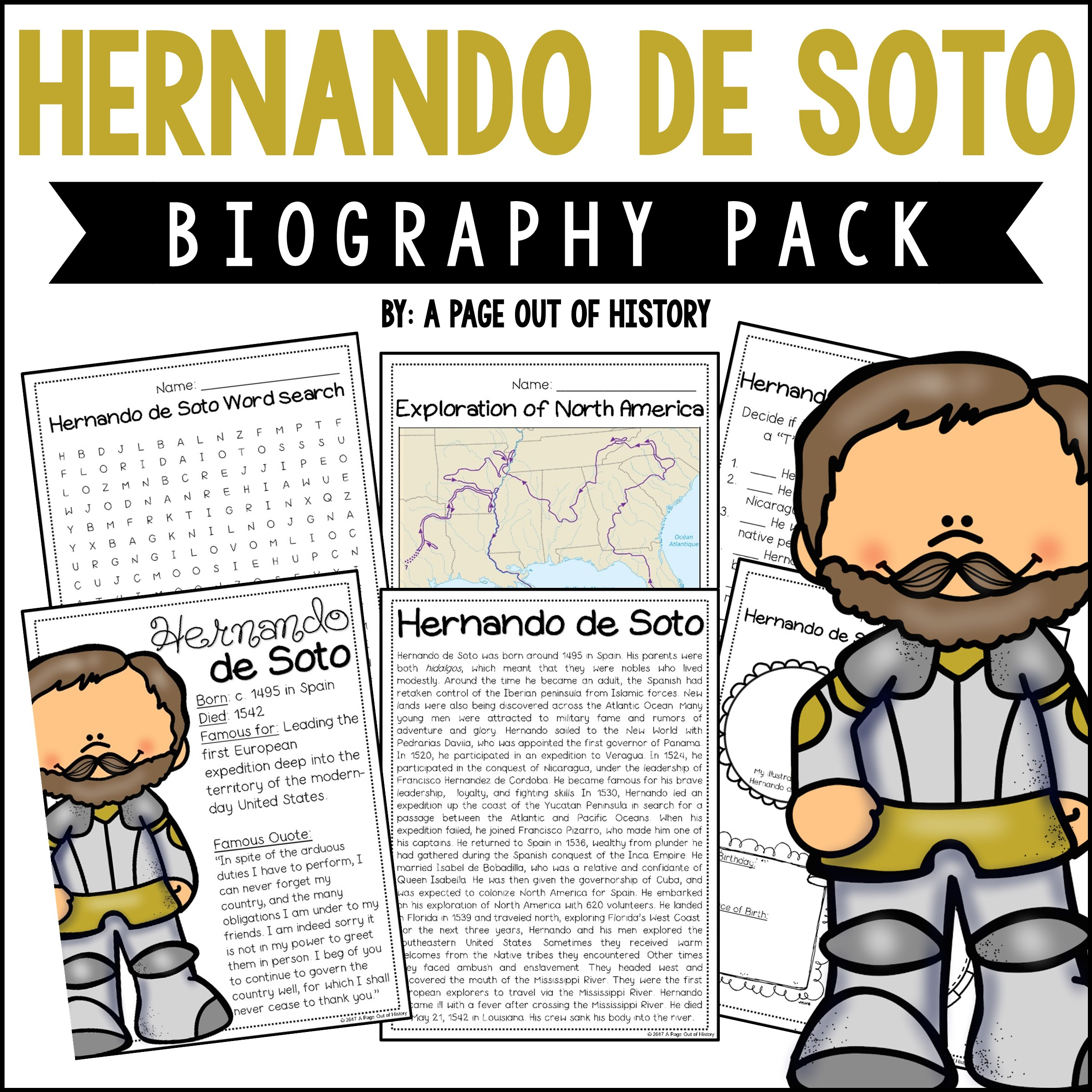 Hernando De Soto Biography Pack New World Explorers