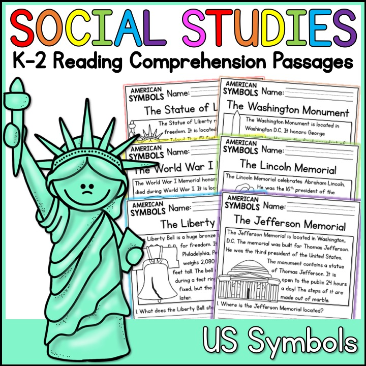 American Symbols Reading Comprehension Passages (K-2) - A ...