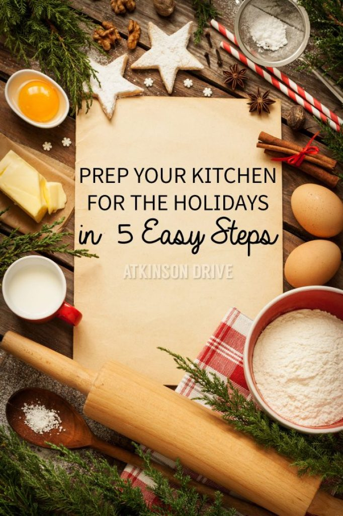 Before the holiday season starts, take some time to spruce up your kitchen - in 5 easy steps! /// by Atkinson Drive