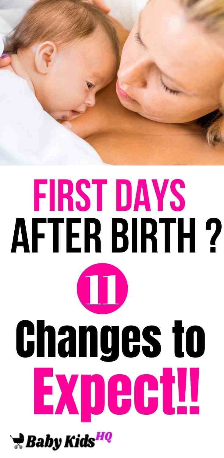First Days After Birth: 11 Changes to Expect!! 2