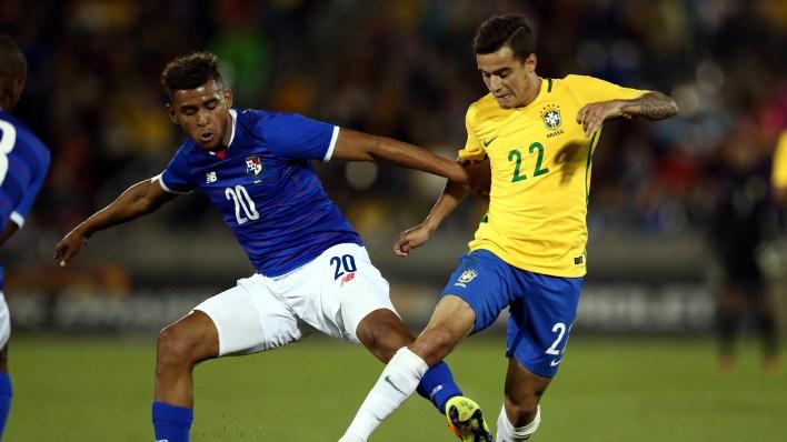 Coutinho foi bem no jogo contra o Panamá (Foto: Lucas Figueiredo / MoWA Press)