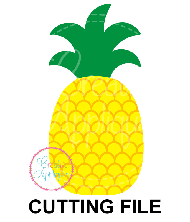 Download Pineapple Cutting File SVG DXF EPS - Creative Appliques