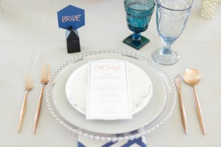 Modern Architecture Inspired Wedding Ideas via TheELD.com