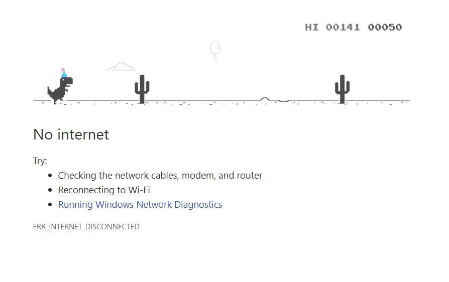 How To Hack The Hidden Google Chrome Dinosaur Game