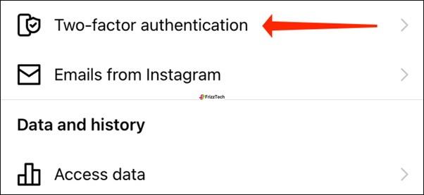 Instagram Security 2FA
