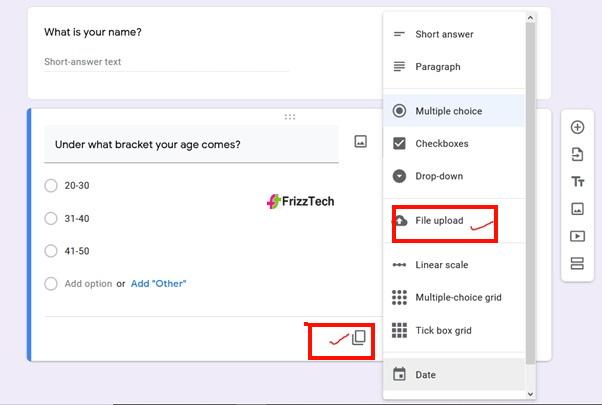 Google Forms screen survey form screen6