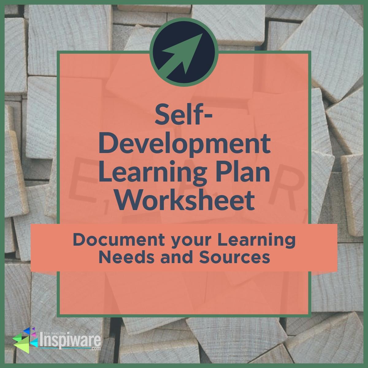 Self Development Learning Plan Worksheet