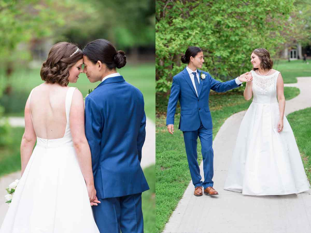 grinnell college grads get married on their graduation day at grinnell college