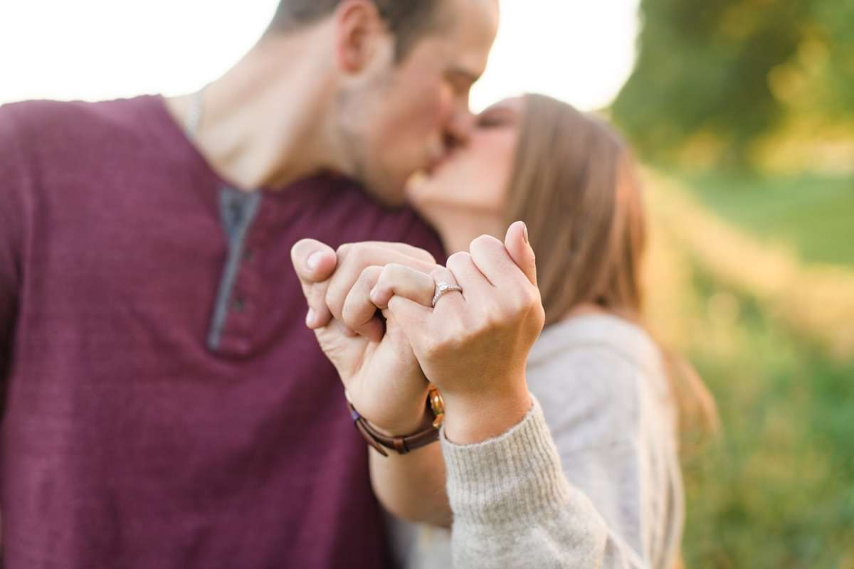 Pinky swear engagement ring photo