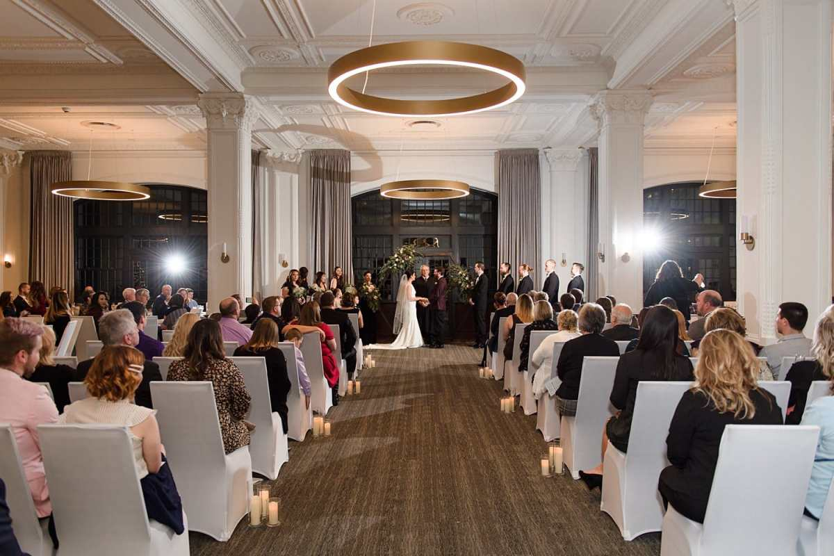 tea room wedding ceremony
