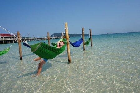 Leniwa plaża i pa Kambodżo!