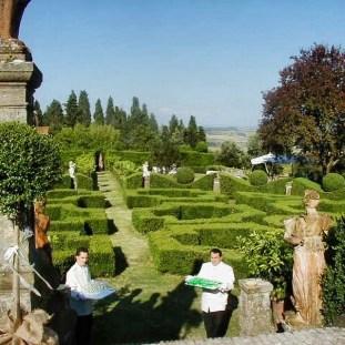 A Tuscan wedding reception