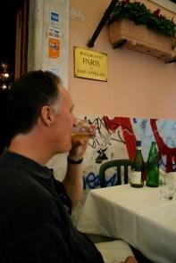 Ristorante Paris Trastevere artichoke liquore