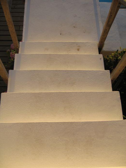 Posada del Faro steps sun