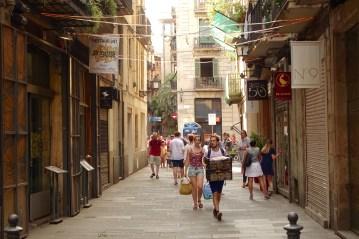 El Born Barcelona pedestrians