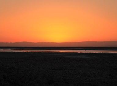 Salar de Atacama valley floor sunset