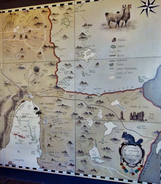 Tierra Atacama excursion map