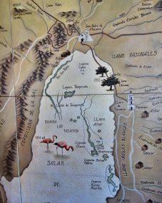Tierra Atacama activities map