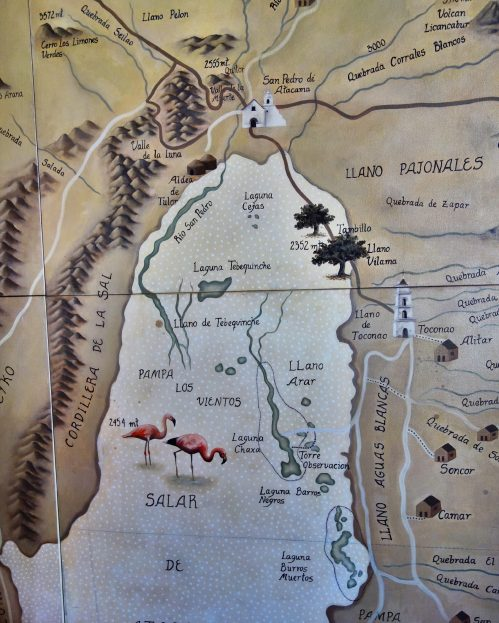 Tierra Atacama activities map