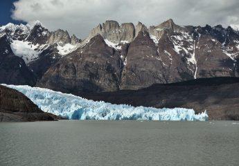Torres del Paine Grey's Glacier mountains and glacier