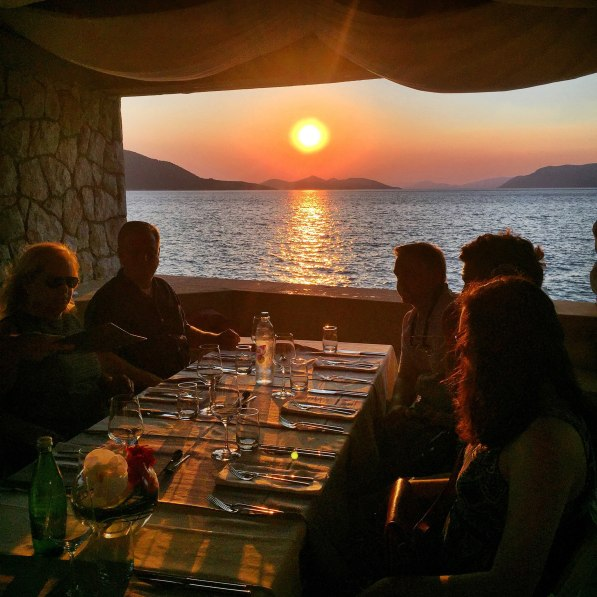 Villa Ruža restaurant sunset