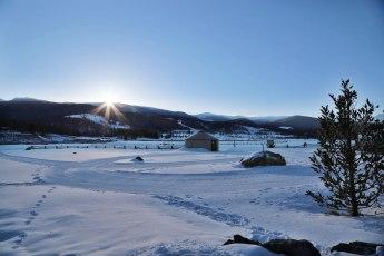 Devil's Thumb Ranch trails at sunrise
