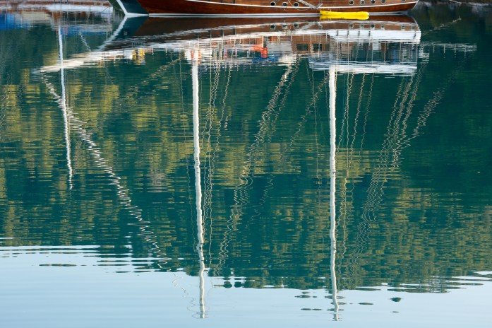 Mljet sailboat reflections