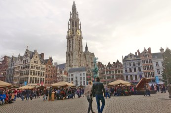 Grote Markt Antwerp tower