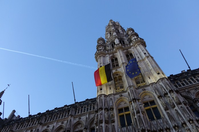 Grand Place Brussels flags