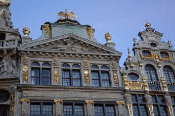 Brussels Grand Place gold leaf