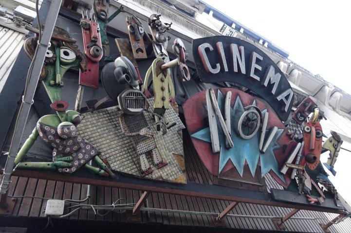 Brussels Cinema Nova sign detail