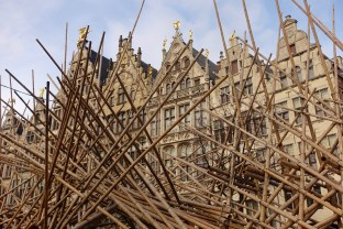 Grote Markt Antwerp wood sculpture detail