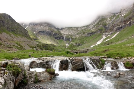 Cirque de Troumouse Waterfalls and Clouds