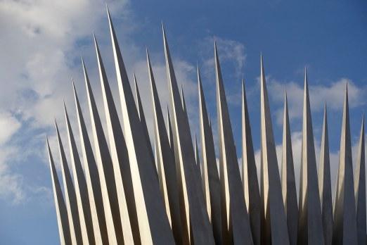 Prague steel sculpture detail