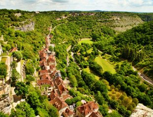 Rocamadour chateau rampart view
