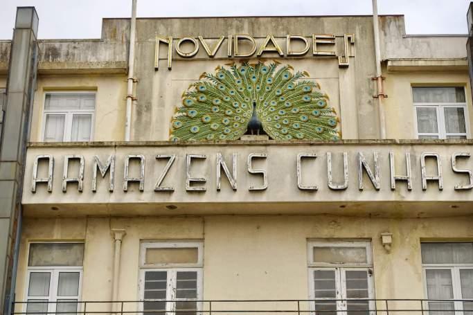 Porto art deco building detail